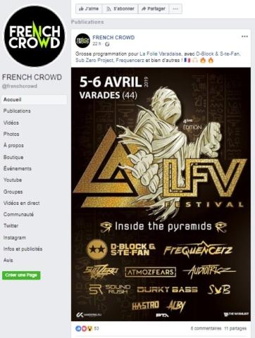 Article de French Crowd sur LFV Festival - Festival hardstyle français.