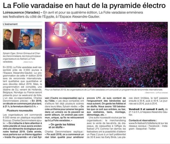 Article de Ouest France sur LFV Festival - Festival hardstyle français.