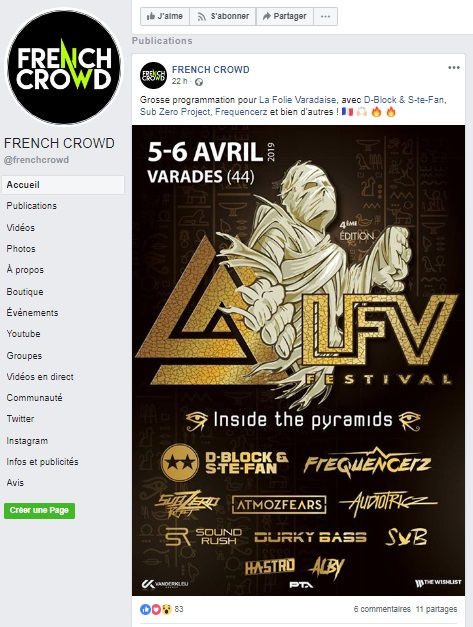 Article de French Crowd sur LFV Festival - Festival hardstyle français.